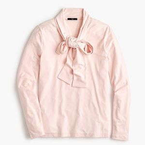 J Crew Tie Neck Pussy Bow Modal Blouse Small